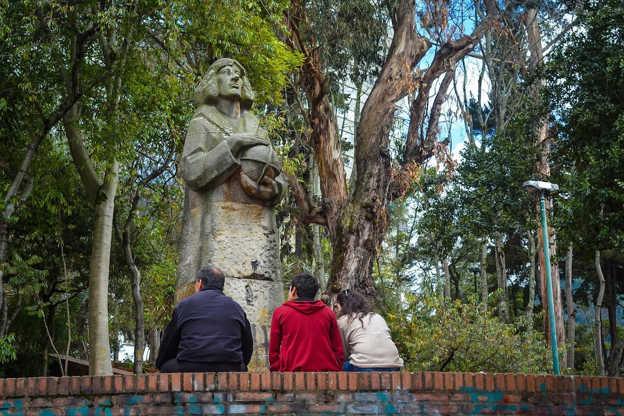 Statue of Copernicus in Independence Park Bogota