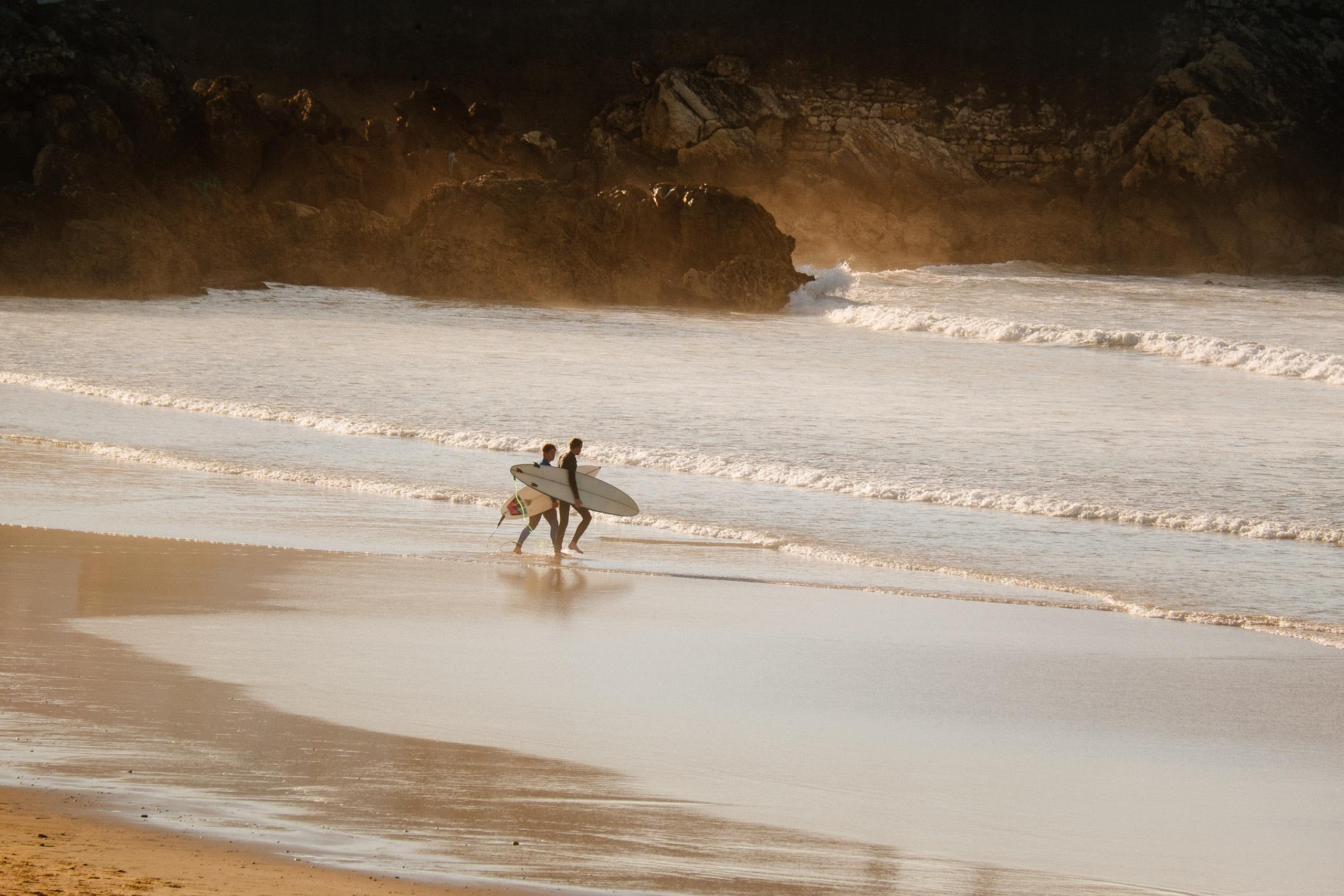 Surfing in Peniche Portugal