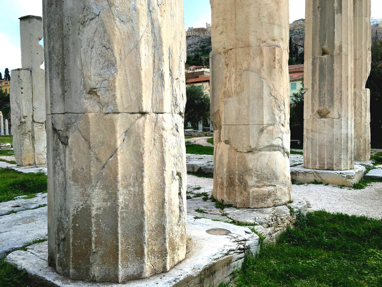 Plaka Ruins Athens Greece