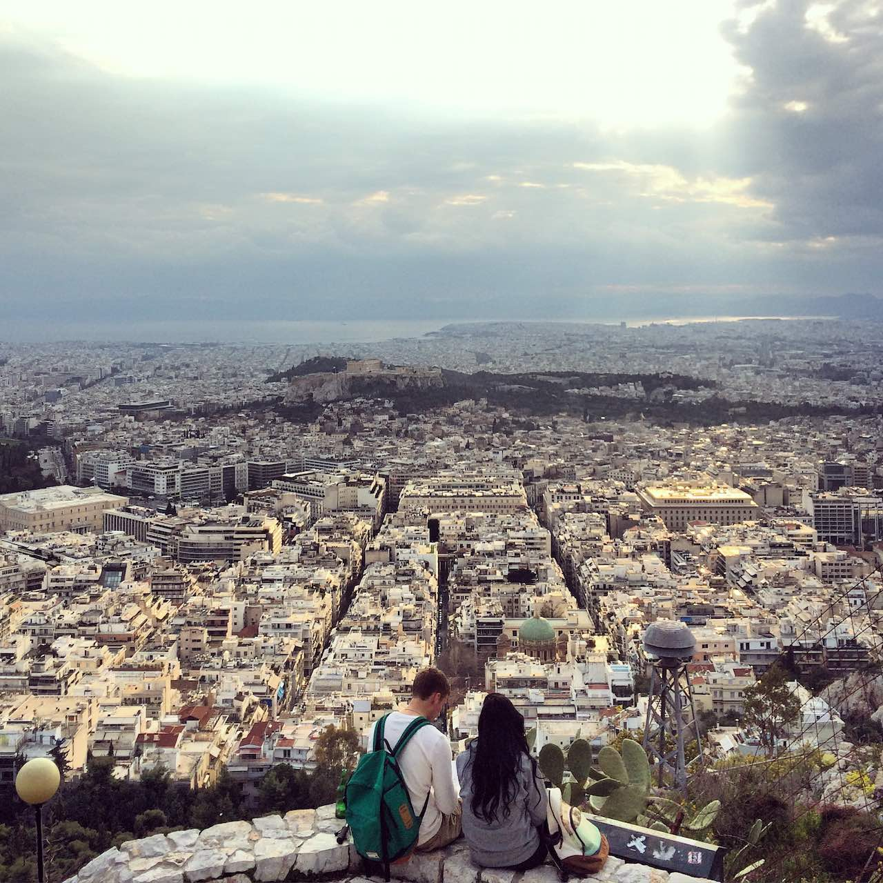 View from Mount Lycabettus Athens Greece