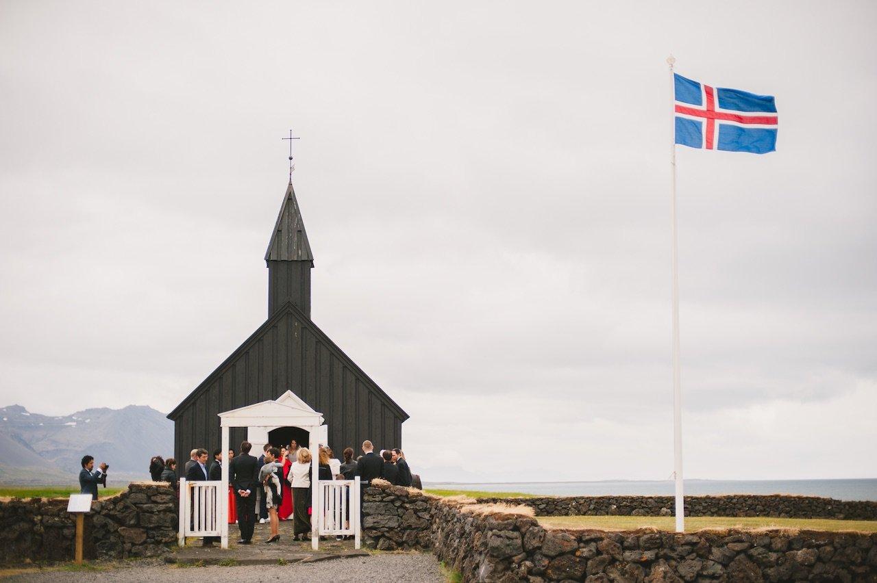 Black church Budir Iceland