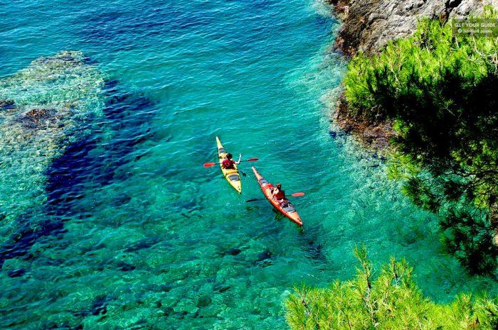 Full-Day Koločep Island Sea Kayaking