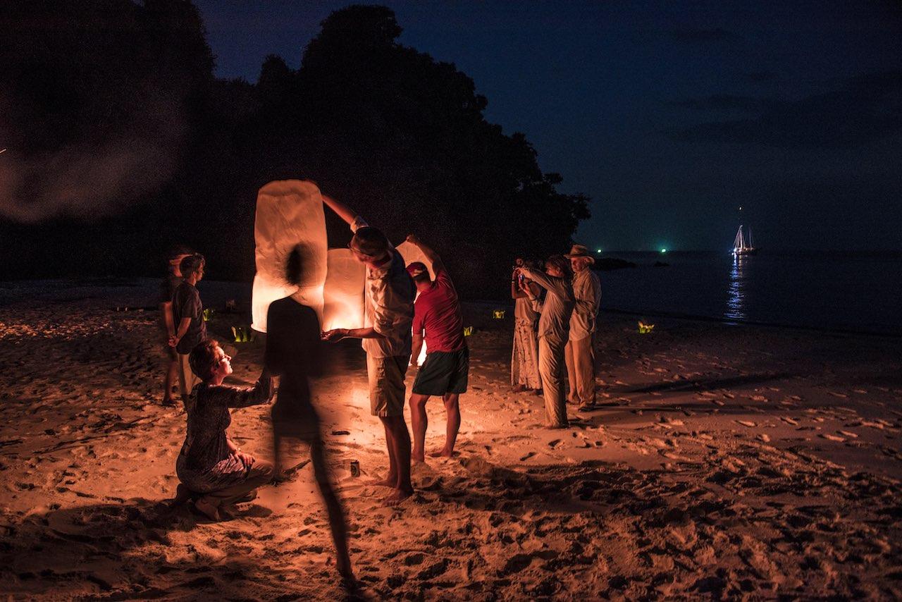 Lanterns Lampi Island Mergui Archipelago Myanmar
