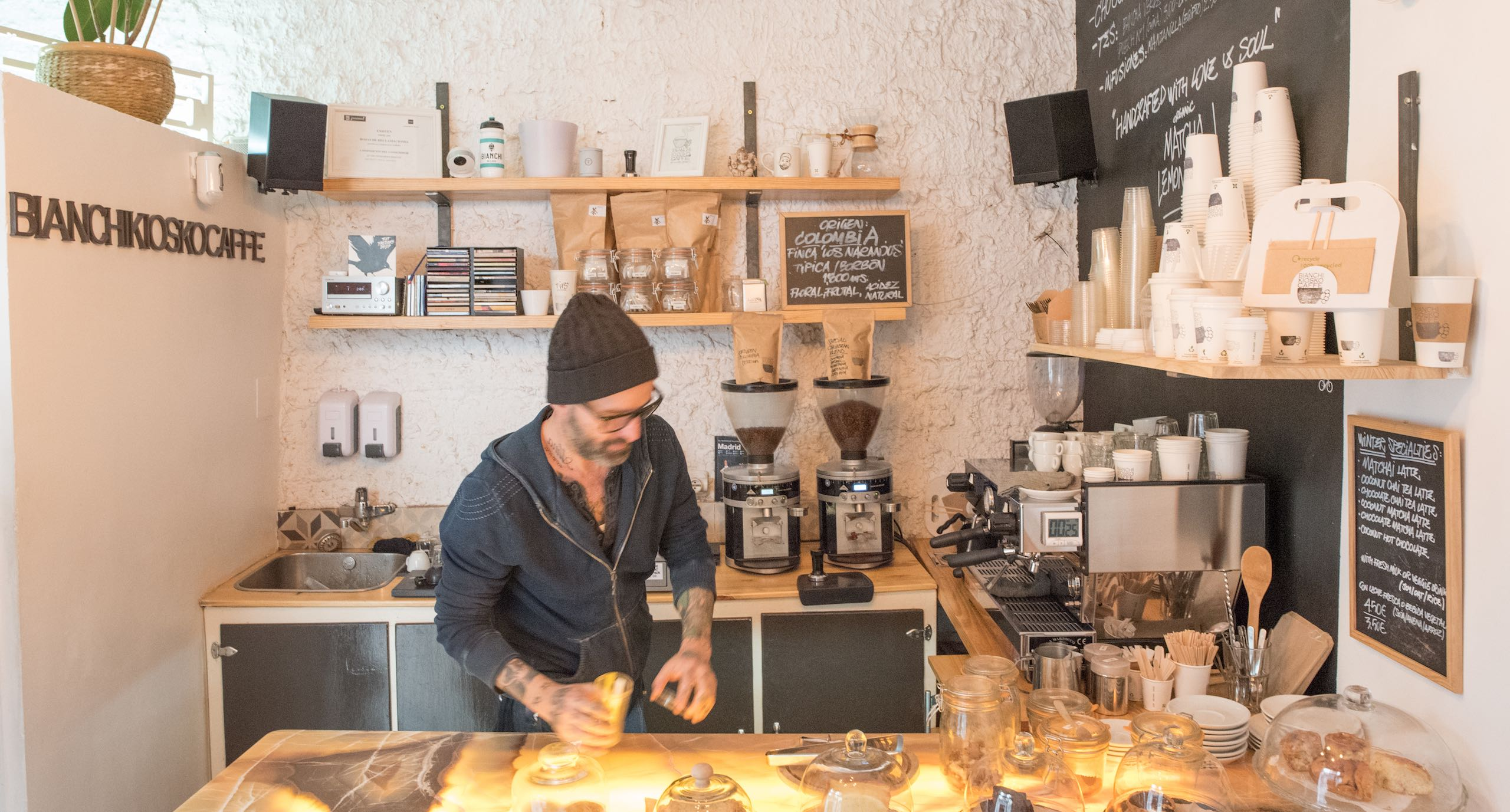 Bianchi Kiosko Caffe Madrid