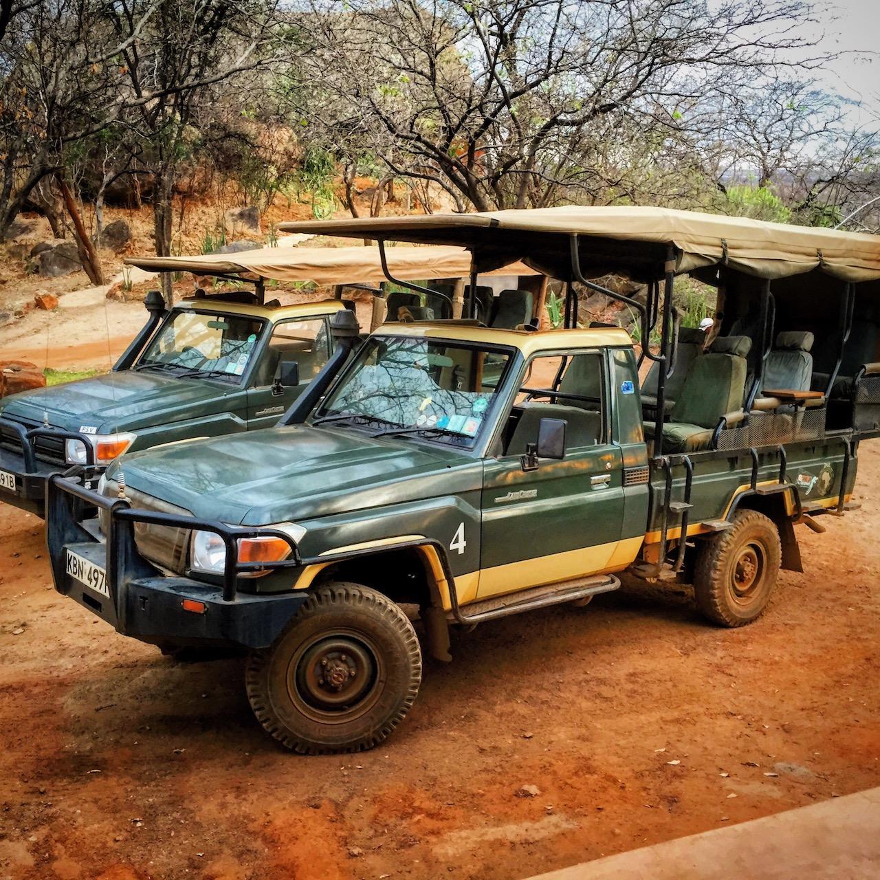 Safari Jeeps in Meru National Park