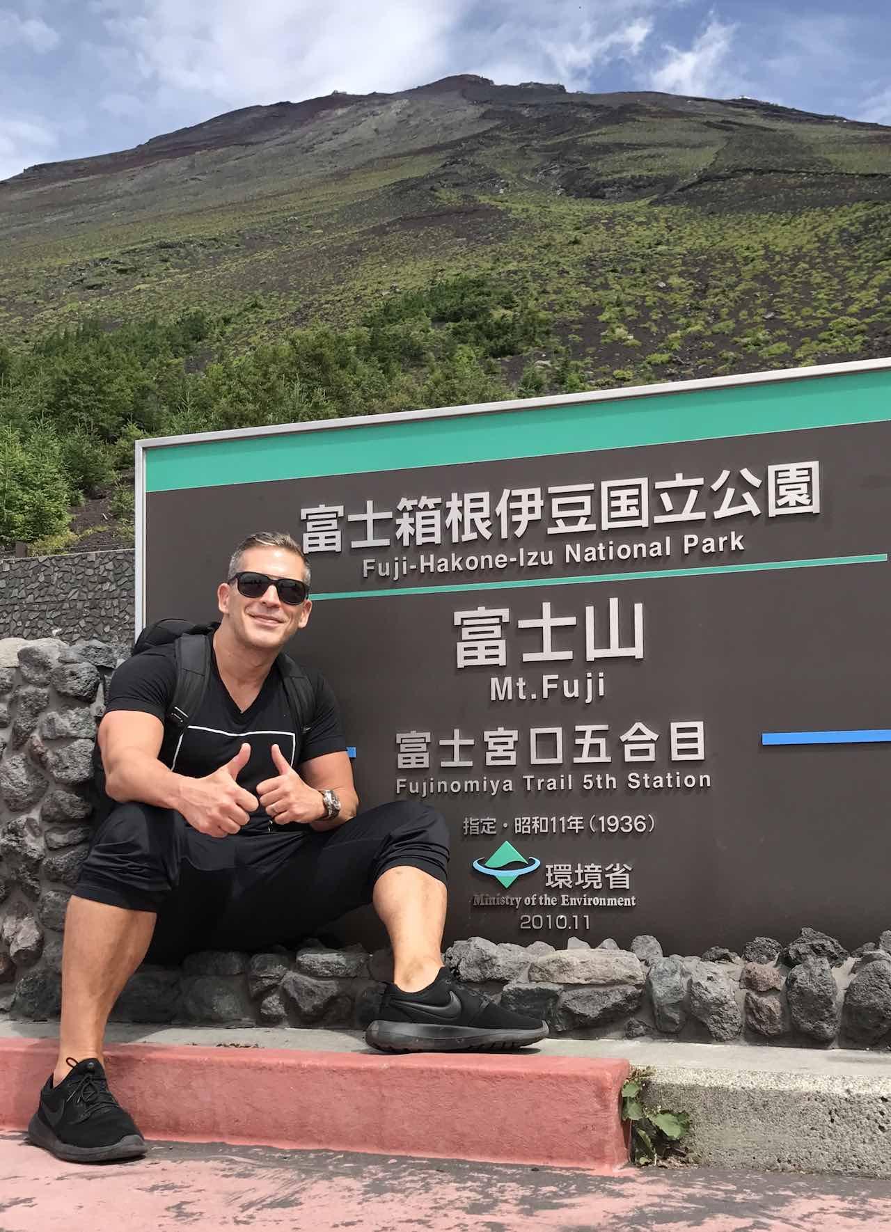 Carlos Melia in Mount Fuji Japan