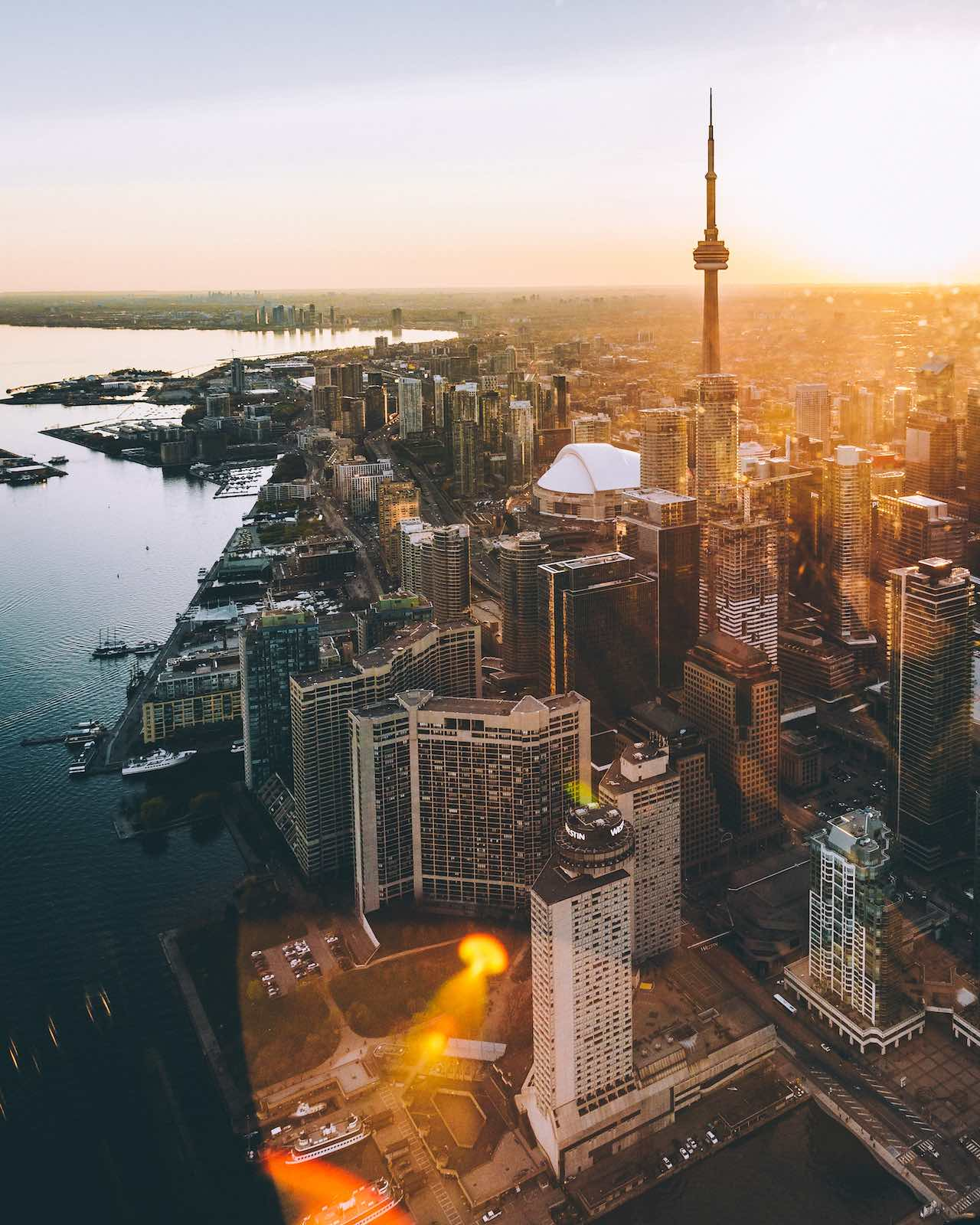 Toronto CN Tower Sunny Canada