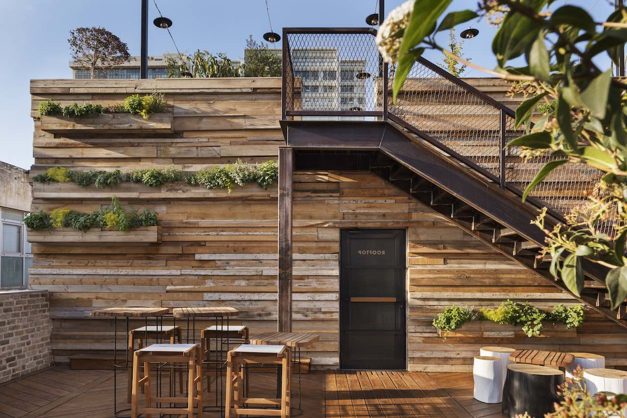 Rooftop Wall Installation