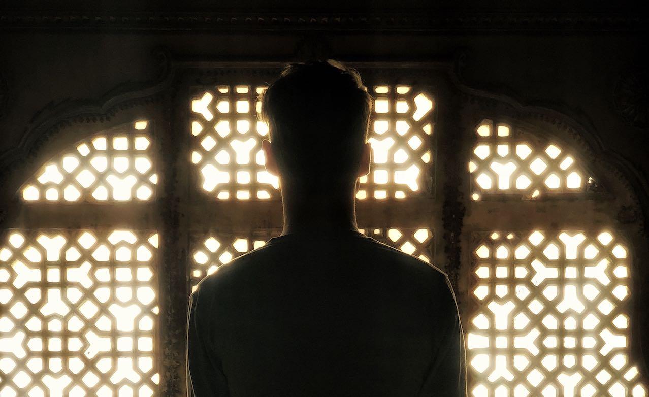 Indian man backlighting