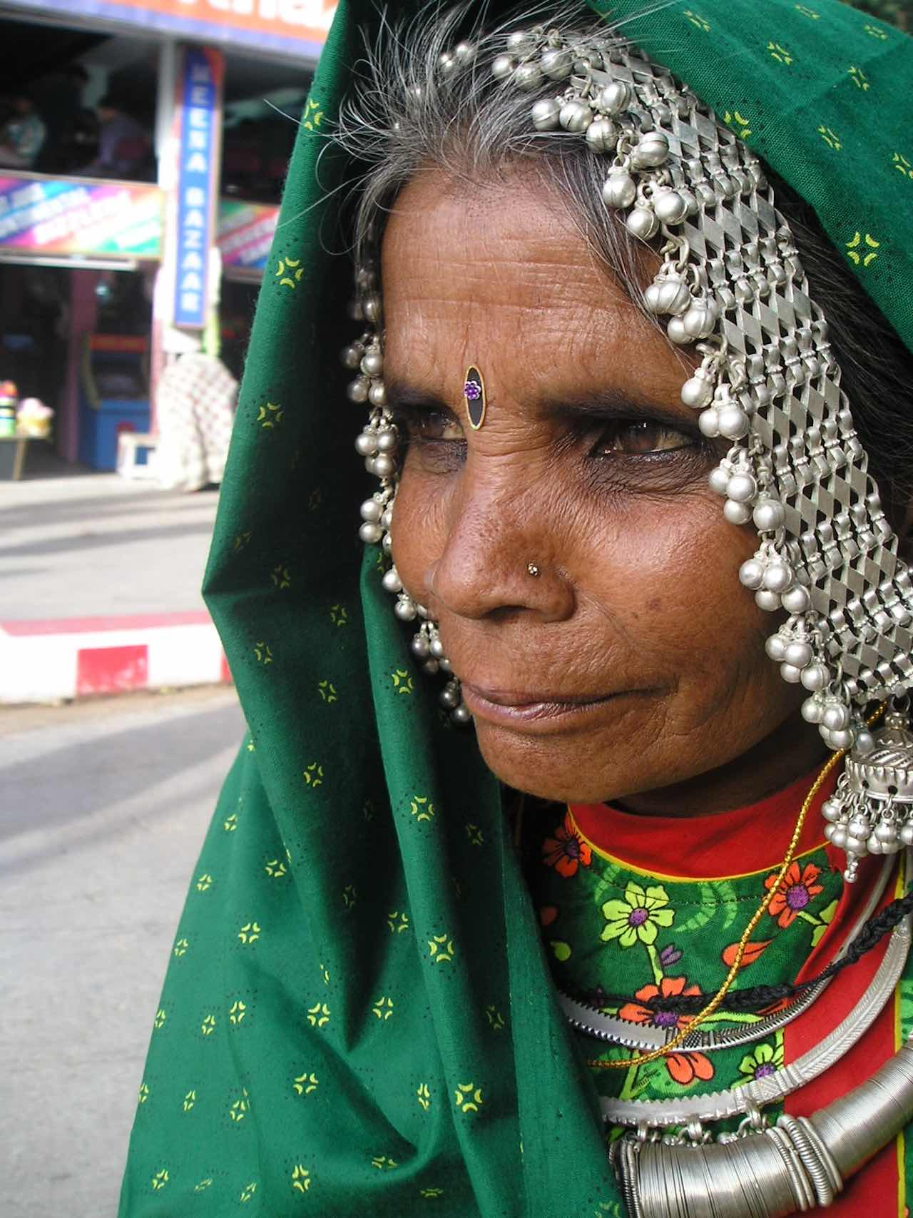 a woman dressed in traditional Indian dress