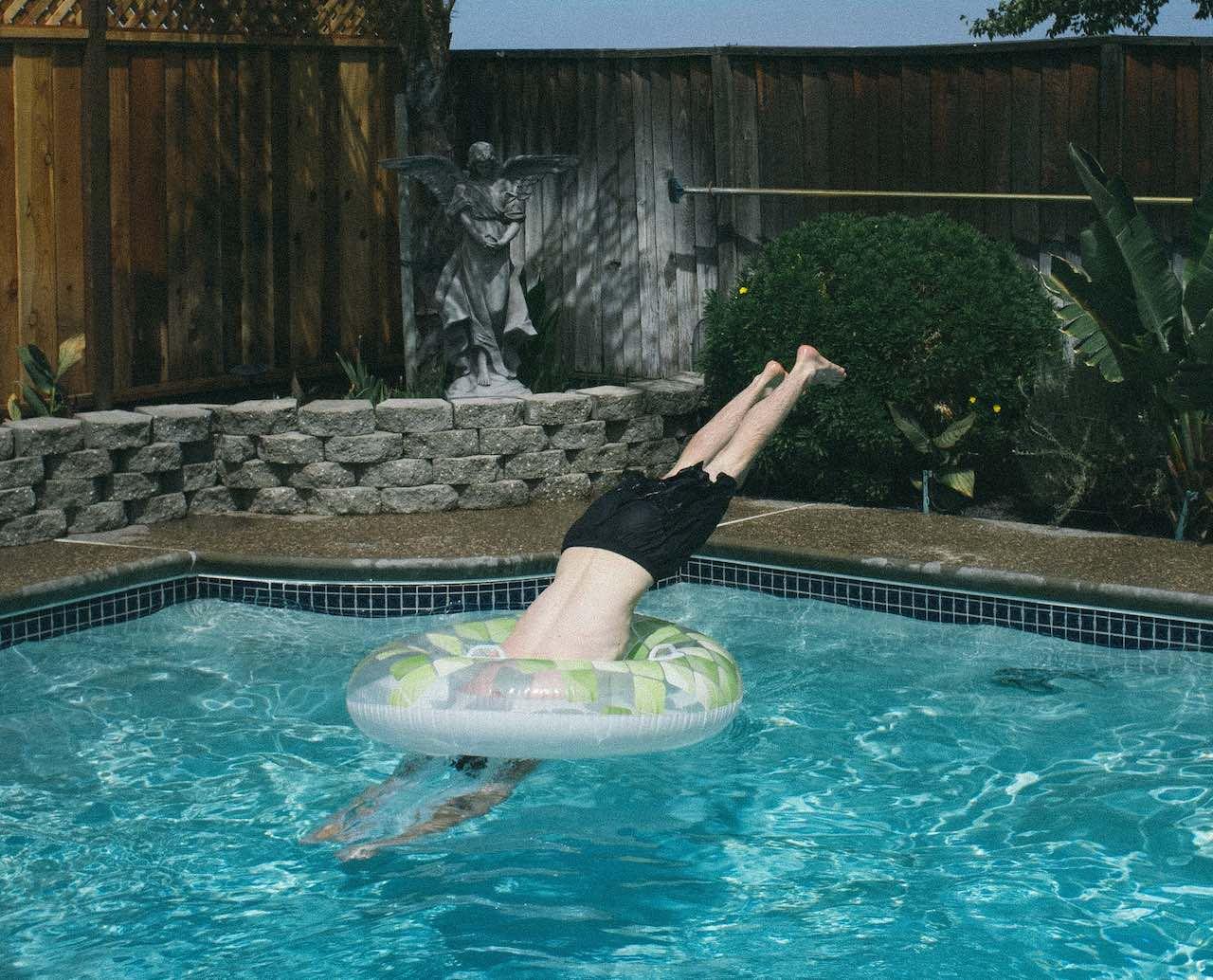 Man in a pool Myrtle Beach