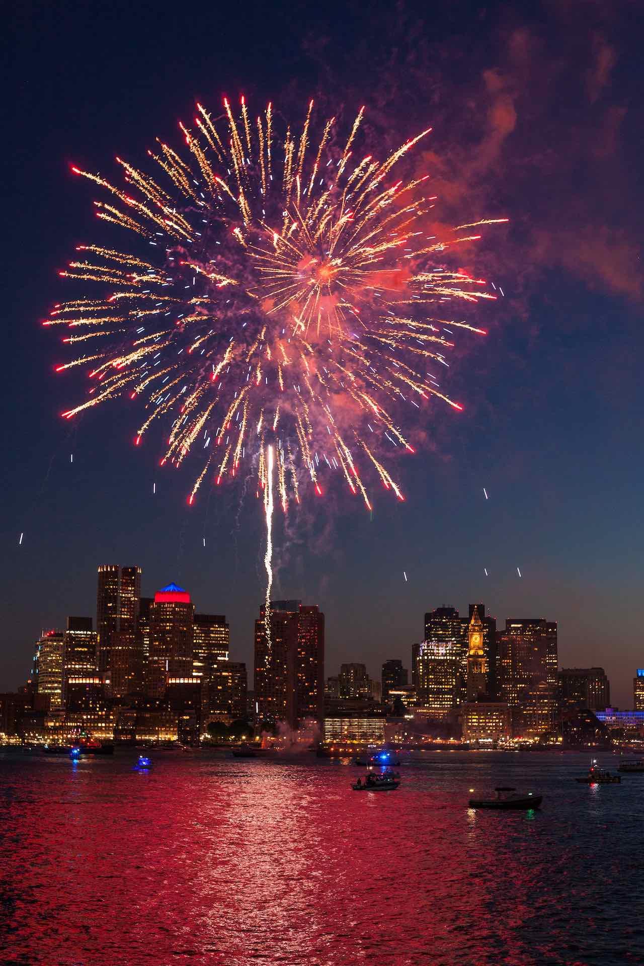 Fireworks over Boston City