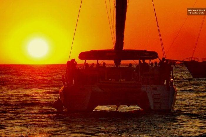 Santorini Gems: Small Group Sailing Cruise on a Catamaran